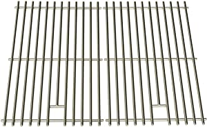 OCEANSIDE Stainless Steel Cooking Grid for Charmglow, Charbroil, Kenmore, Sunbeam, Arkla, Broil King, Coleman and Jacuzzi JC-4010, JC-4020, Gas Grill Models, Set of 2