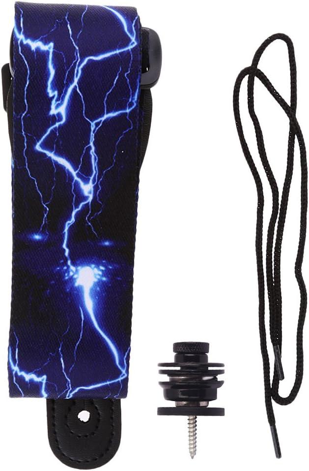perfeclan Sangle En Polyester pour Guitare Basse Verrouillage de Sangle En M/étal pour Accessoire de Guitare /électrique