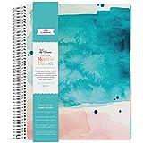 Erin Condren 2019 12 Month (Jan 2019 - Dec 2019) Deluxe Monthly Planner (8.5x11) Watercolor Splash (80 notepages) Colorful