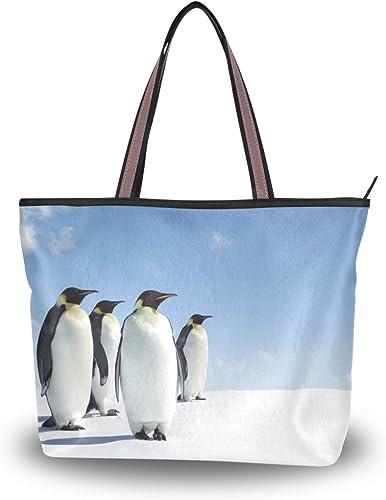 Baby Emperor Penguins Handbag Purse Tote Shopper Shoulder Bag