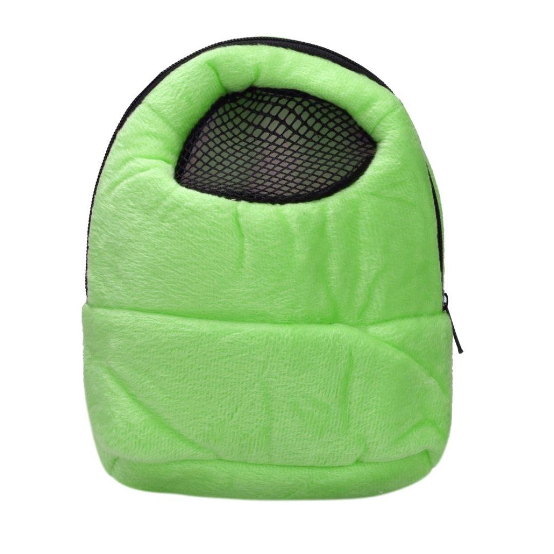 Binmer(TM) Hamster Rat Hedgehog Chinchilla Ferret Carrier Packet Bag Sleeping Hanging Bag (Green)
