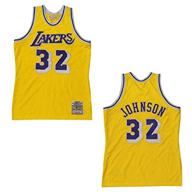 24f00e9c96c Image Unavailable. Image not available for. Colour: Mitchell & Ness Los  Angeles Lakers 1979-1980 Magic Johnson ...
