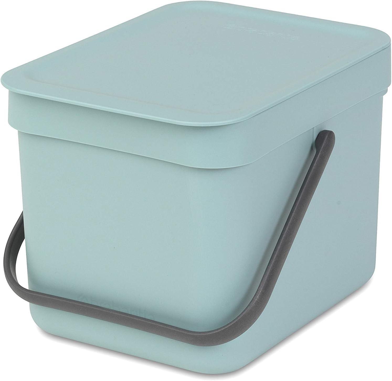 Brabantia Sort and Go Food Waste Caddy, Plastic, 6 L - Mint Green