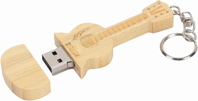 Sutinna Unidad Flash USB, Disco En U Portátil De Madera con Forma De Guitarra USB Flash Drive Memory Stick para Archivos De Oficina Almacenamiento En La Computadora Regalo para Amigos, Clientes(8GB)