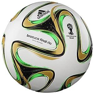 adidas Fussball Brazuca Finale 2014 OMB 5 White-Black-Metallic-Solar Green