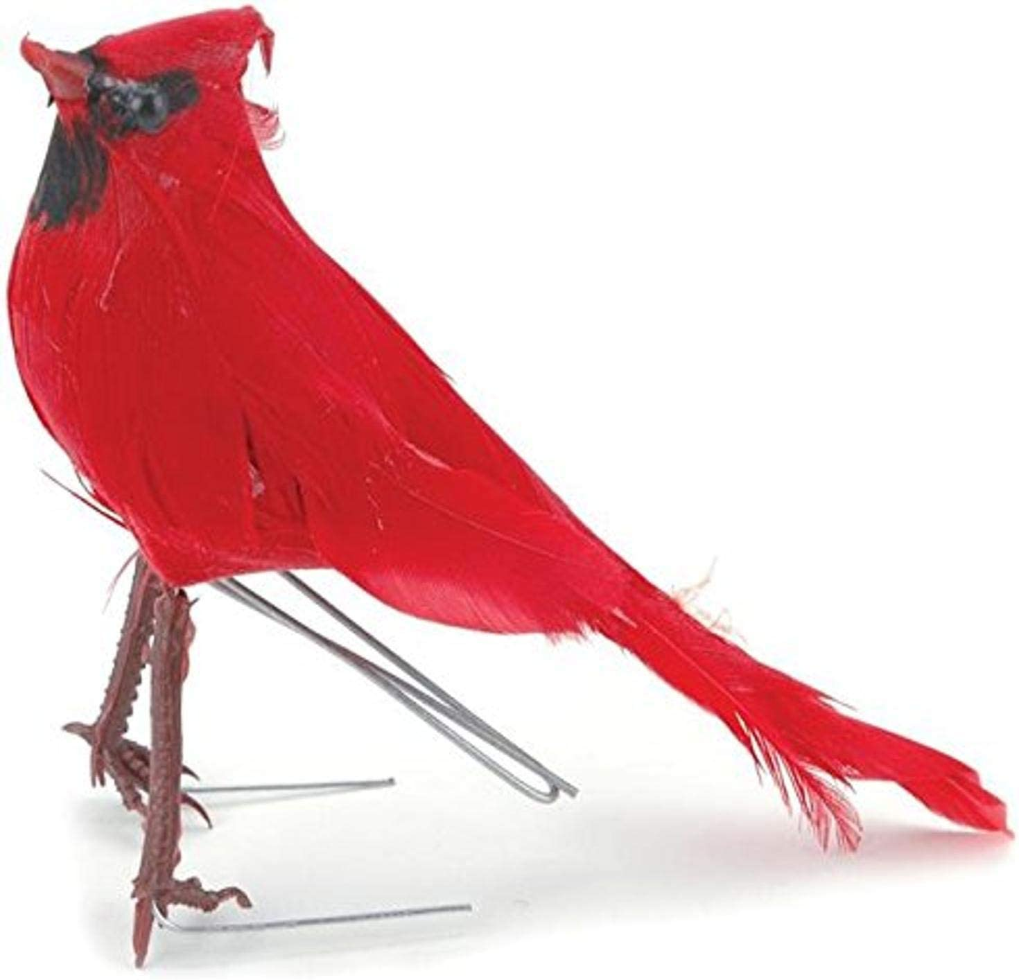 Touch of Nature 21103 Cardinal Feather Bird, 5-Inch, Red