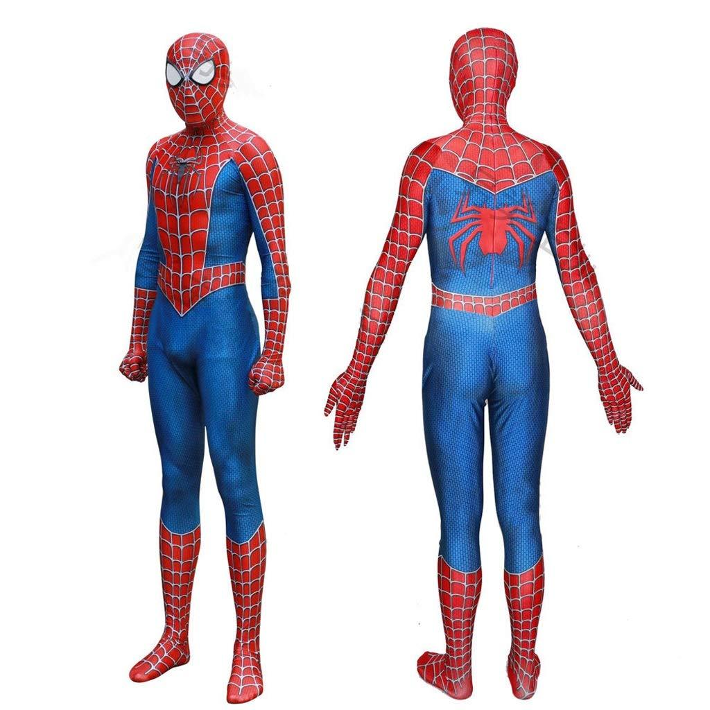 A-XXXL YUNMO équipeHommest Fun Costume Spiderhomme Costume Cosplay d'halFaibleeen Complet du Corps imprimé 3D (Taille   C-M)