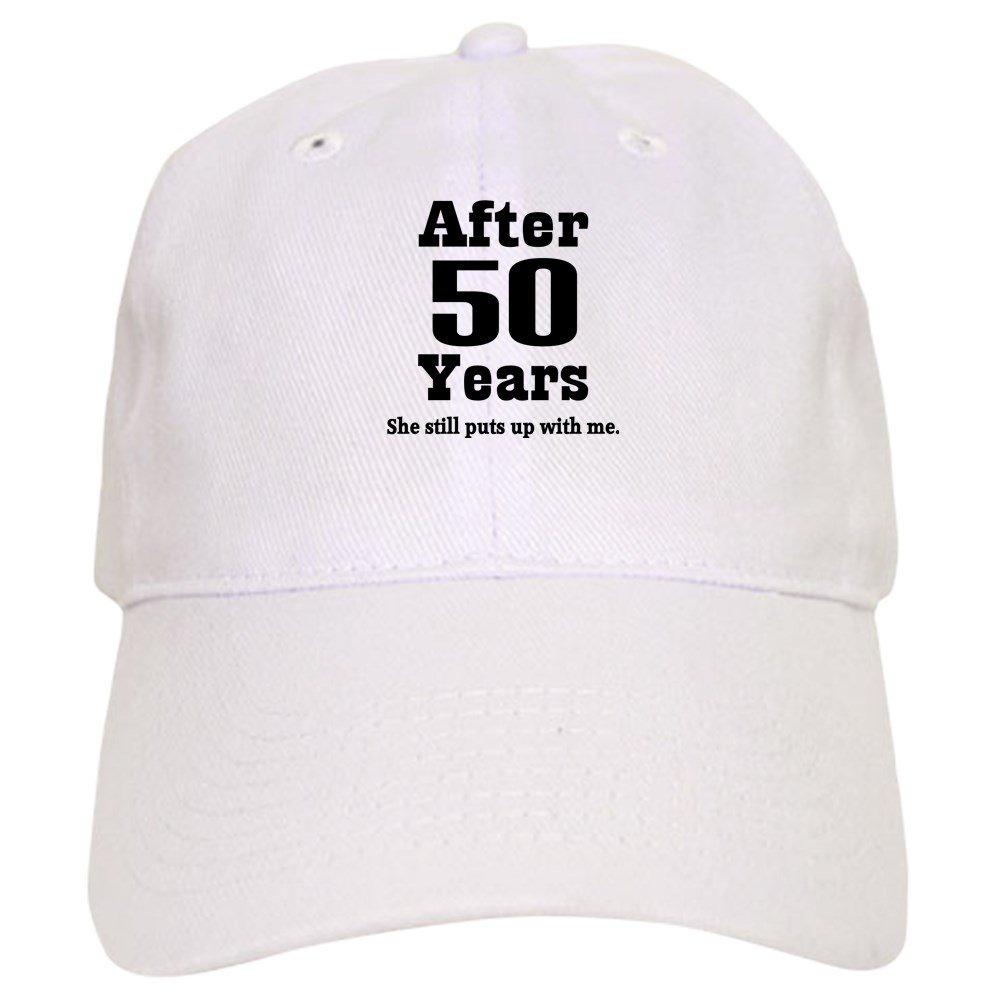 7d4e81362 CafePress 50th Anniversary Funny Quote Cap Baseball Cap