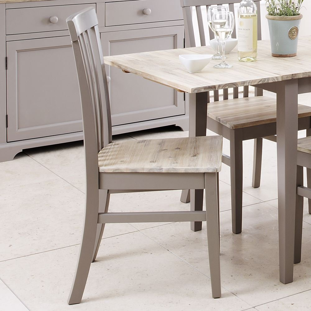 Florence High back chair. Kitchen dining wooden chair, Stunning Grey chair with wooden seat Statement Furniture