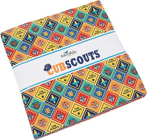 Cub Scouts 10'' Stacker 42 10-inch Squares Layer Cake Riley Blake Designs 10-7200-42 by Riley Blake Designs