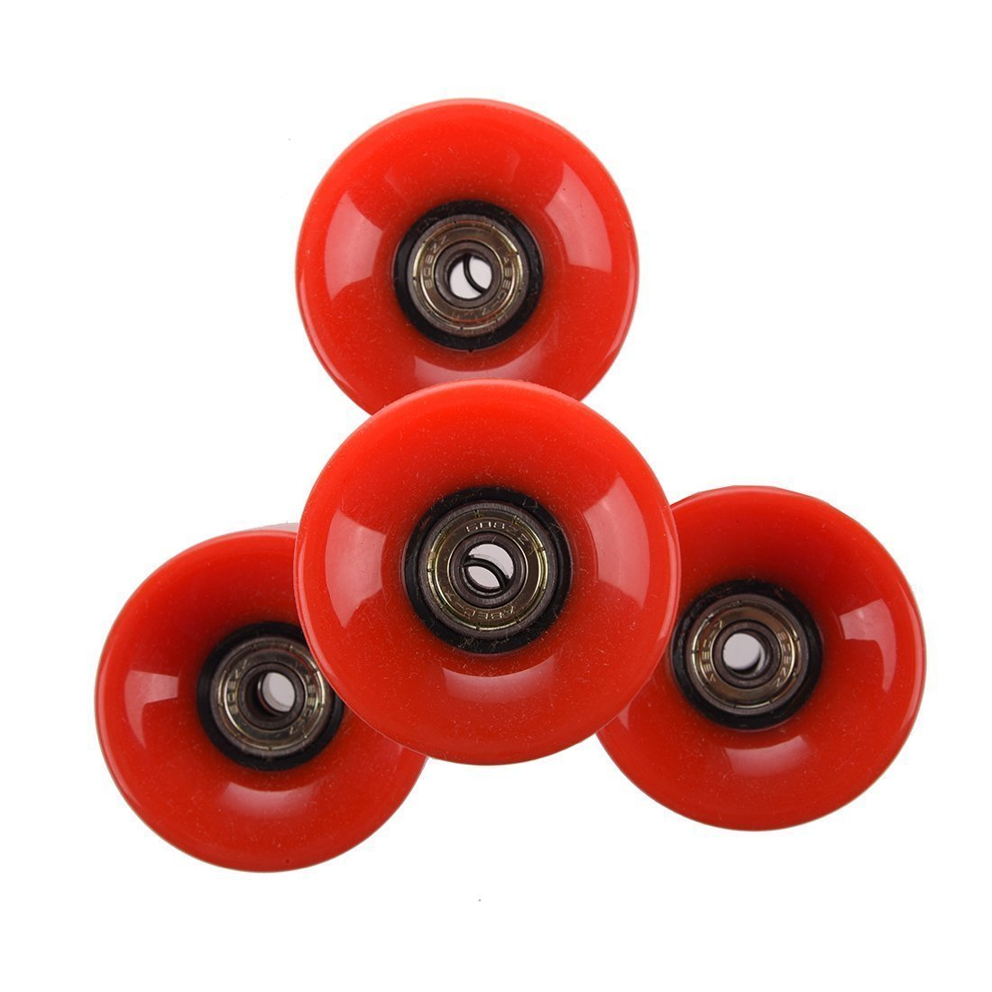 BARGAIN HOUSE Skateboard wheel, four set skateboard wheels Suitable for 6 cm diameter and 4.5 cm wide pennies Red by BARGAIN HOUSE