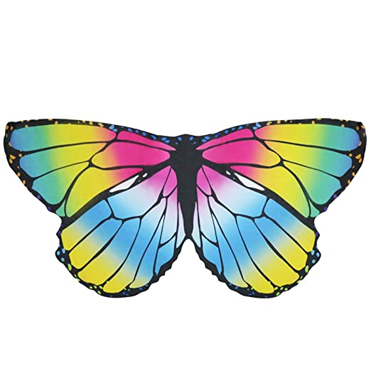 9f8a7094ea3e9 Amazon.com: Kids Fairy Butterfly Wings Costume for Girls Boys Monarch Dress  Up Princess Pretend Play Princess Party Supplies (# Mulitcolored): Clothing