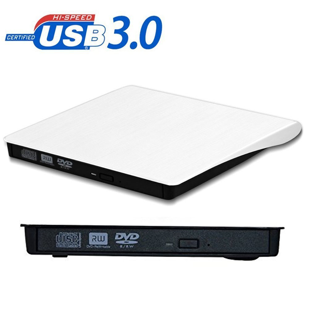 External CD Drive, Geelyda USB 3.0 Portable CD DVD +/-RW Drive Slim DVD/CD Rom Rewriter Burner Writer, High Speed Data Transfer for Macbook Pro Laptop/Desktops Win 7/8.1/10 and Linux OS