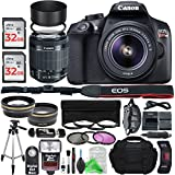 Canon EOS Rebel T6 Digital SLR Camera with 18-55mm EF-S f/3.5-5.6 IS II Lens + Professional Gold Bundle