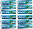 Rolaids Mint Flavor Heartburn Acid Indigestion Fast Acting Rapid Relief - 12 Rolls of 12 Antacid Chewable Tablets (144 Tablets Total)