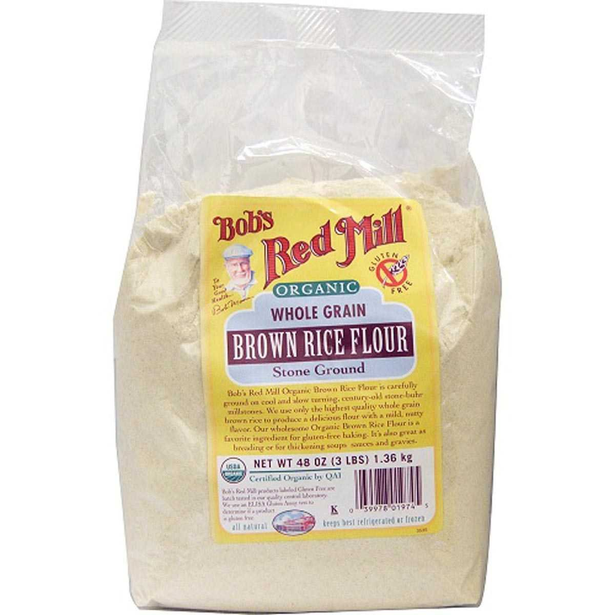 Bob's Red Mill Organic Brown Rice Flour - 25 lb - Bulk Bag