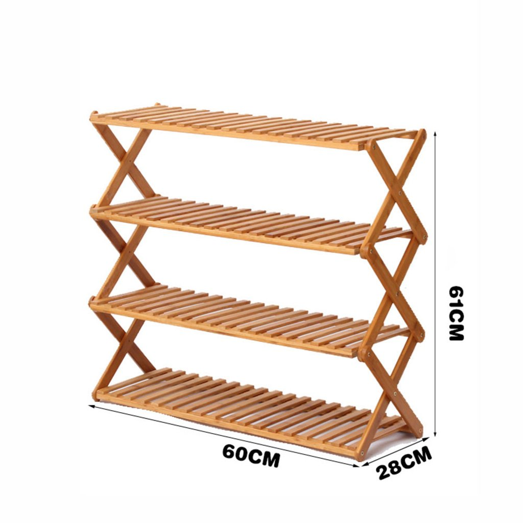 I shoes Rack Free Inssizetion Folding shoes Rack Simple Solid Wood Multi-Layer shoes Cabinet Multifunction dust-Proof Economic Type Dorm Room Household,N