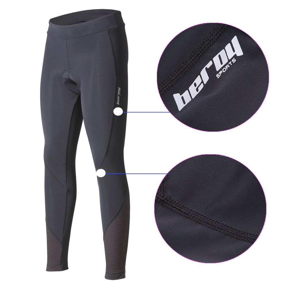 beroy Women 3D Padded Cycling Pants with Adjust Drawstring,Ladies Compression Tights Bike Pants(M Black) by beroy (Image #3)