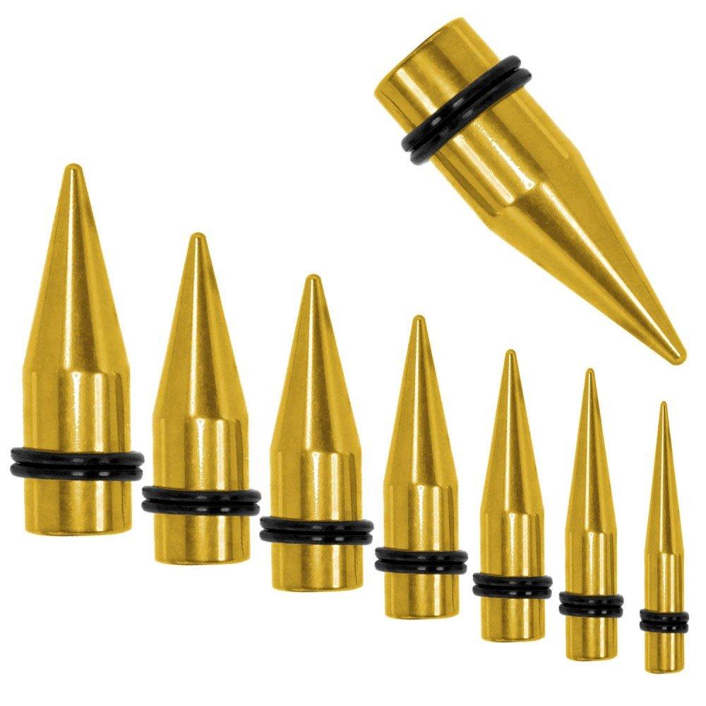 tumundo 1x o Kit Dilataciones Dilatador Expansor Acero Inoxidable Túnel Piercing Plug Oreja Oro, color:Dehner golden/taper gold - 1.6 mm: Amazon.es: Joyería
