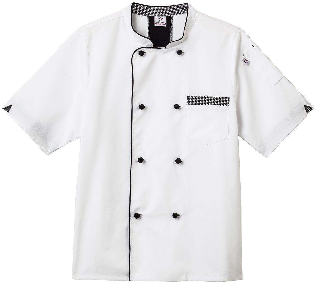 Short Sleeve Executive Chef Coat White L