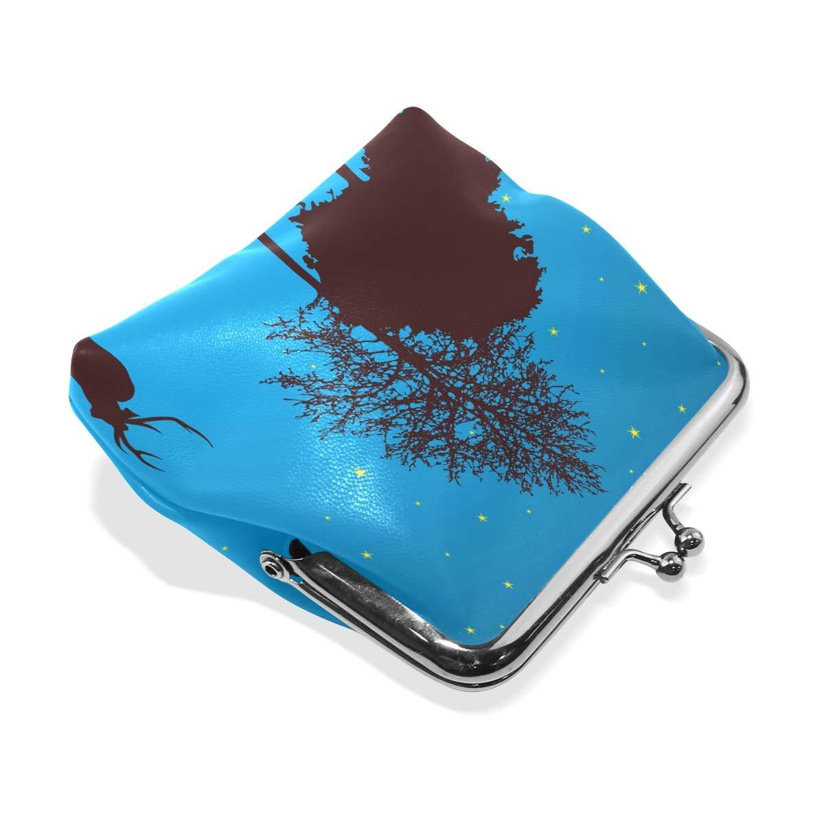 LALATOP Silent Night Womens Coin Pouch Purse wallet Card Holder Clutch Handbag
