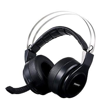 Docooler HUHD Audífonos inalámbricos ópticos para Juegos de Alta tecnología Sonido Envolvente con Sonido Envolvente Estéreo USB Auriculares para Juegos con ...