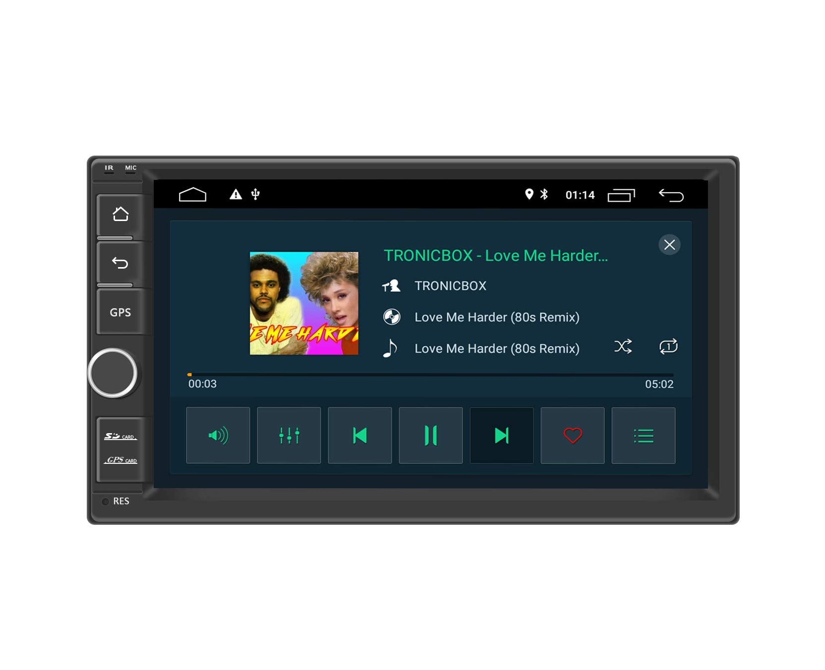 Henhaoro Android 9.0 car Stereo 2G Ram 7'' in Dash 2 Din GPS Navigation Player Receiver Touch Screen Radio Head Unit SD Support 256GB by Henhaoro
