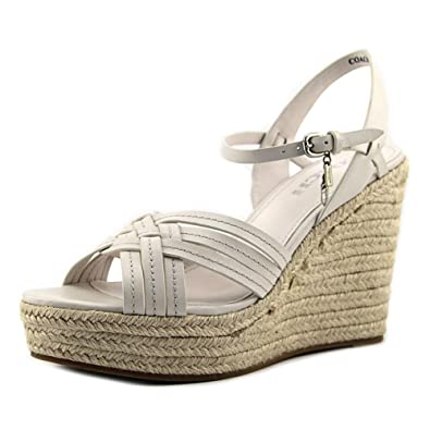 COACH Women's Dottie Chalk Semi Matte Calf Wedge