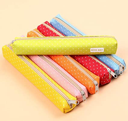 Vikea - Juego de 6 estuches pequeños para lápices escolares de 19 x 2,5 x 2,5 cm: Amazon.es: Oficina y papelería