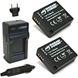 Wasabi Power Battery (2-Pack) and Charger for Leica BP-DC15 and Leica D-Lux (Type 109)