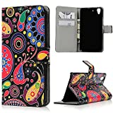 Huawei Y6 Scale Wallet Case - Mavis's Diary Fashion Style Premium Leather with Card Holders Magnetic Clip Flip Cover Stand Case for Huawei Y6 Scale (Colorful Jellyfish)