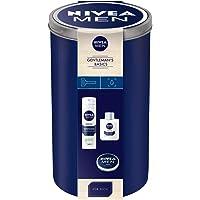 NIVEA MEN Gentlemen's Basic Geschenkset, Set in der Aufbewahrungsdose mit After Shave Balsam, Rasierschaum und Creme, Weihnachtsgeschenk für den gepflegten Mann