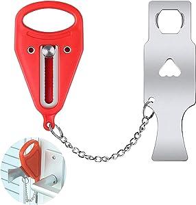 Portable Door Lock Home Security Door Locker Door Security Travel Lock Safe for Bedroom College Dorm Lock Motel School Lockdown Door Block Home Locks Devices for Safety