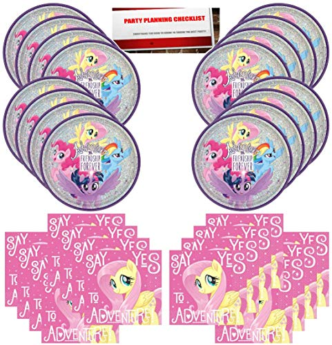 (My Little Pony Birthday Party Supplies Bundle Pack for 16 Plus Party Planning Checklist by Mikes Super Store )