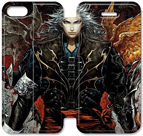 Coque iPhone 4 4S Coque en cuir, Klreng Walatina® PU Cuir de portefeuille Coque pour Coque iPhone 4 4S Design By japonaise Castlevanias P9E5Nh