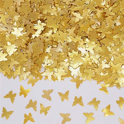 Butterfly Gold Glitter - Natural Edible GMO Sugar Nuts Gluten Soy Free Glitter Butterfly (Gold)
