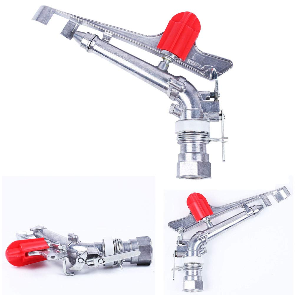 MOOUK Pistola de pulverizaci/ón de 1.5 Pulgadas para c/ésped y jard/ín Pistola rociadora de jard/ín con rociador Ajustable de 360 /° para riego de Agua y aleaci/ón de Zinc