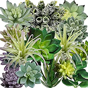 Supla 15 Pack Assorted Artificial Succulents Plants Fake Succulents Plants Unpotted Fake Cactus Textured Aloe for Floral Arrangement Wedding Party Accents 9