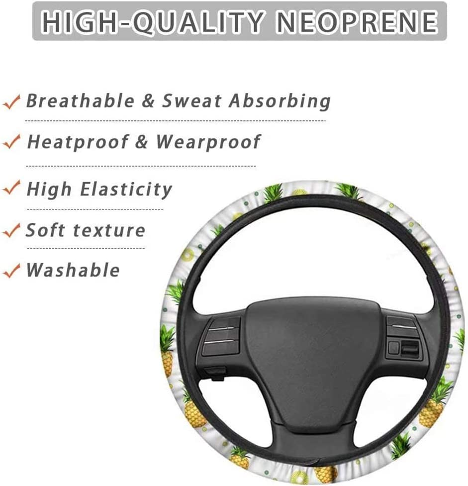 coofig Car Steering Wheel Cover with Durable PU Leather,Universal 15 inch Fit for Car Truck SUV,Breathable Anti Slip Auto Steering Wheel Covers for Men and Women Blue