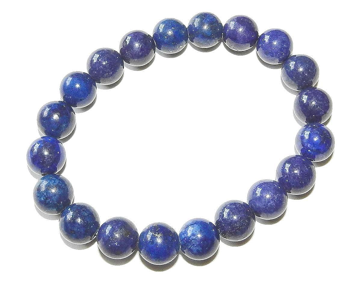 SunnyCrystals 10mm Lapis Lazuli Bracelet Natural Gemstone Third Eye Throat Chakras Healing Crystal Jewelry LPB10MM