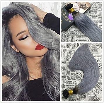 Amazon moresoo 18 inch straight hair weaving extensions off moresoo 18 inch straight hair weaving extensions off black1b to grey 100 double pmusecretfo Images