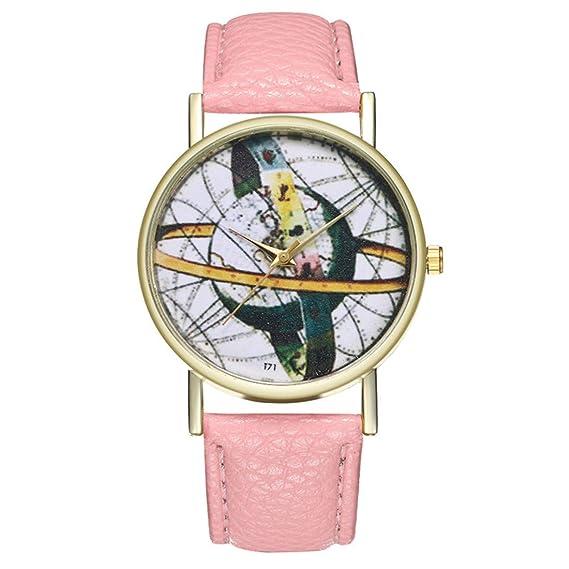 Reloj de Cuarzo para Adolescentes, Estudiantes, Planeta, Cortex, Color Rosa: Amazon.es: Relojes
