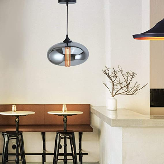 Amazon.com: Lámpara de techo de cristal de colores modernos ...