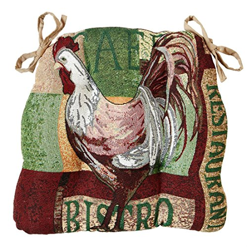 BrylaneHome Set Of 2 Tufted Seat Cushions (Rooster,0) by BrylaneHome