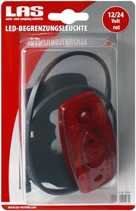 color rojo incluye soporte y sujeci/ón r/ápida para cables Luz de g/álibo LED Las 10147