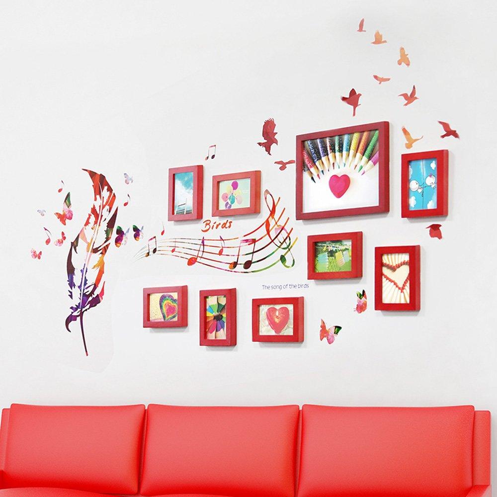 Photo Wall, 9 Frame Combination Frame Frame Wall, Living Room Bedroom Creative Photo Wall ( Color : 1# )
