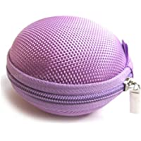 EVA Round Storage Bag Canvas Earphone Headphone Case Carrying Hard EVA Earbuds Case for Earphone Earbud USB Cable by…