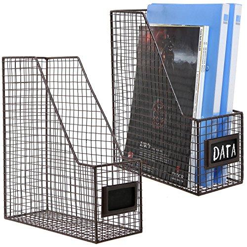 Document Magazine Storage Baskets Chalkboard product image