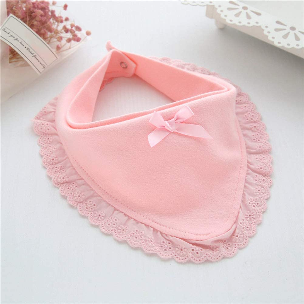 Babero de encaje de algod/ón para beb/é rosa rosa Talla:Round Dontdo