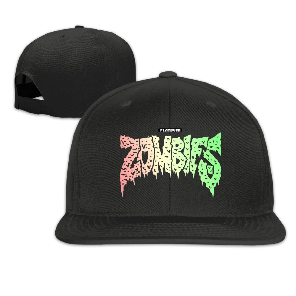 Flatbush Zombies Band Unisex Adjustable Flat Fitted Hat Baseball Cap Black